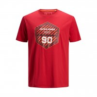 T-shirt JCOFRIDAY Disc Chinese red