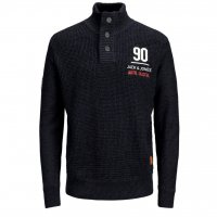 JORBRANDO KNIT HIGH NECK GRANDDAD PS Navy