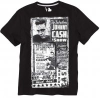 T-shirt Replika 61382 Johnny Cash svart