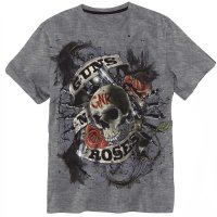 T-shirt Replika 61381 Guns N Roses grå