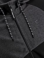 JCOTAKE SWEAT ZIP HOOD Svart