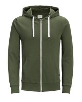 JJEHOLMEN SWEAT ZIP HOOD Oliv