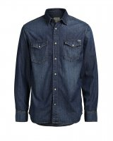 Jorsheridan skjorta western Jack & Jones Dark Blue