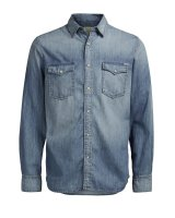 Jorsheridan skjorta Jack & Jones Medium Blue - 3XL
