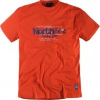 T-shirt North 56 Sailing crew orange