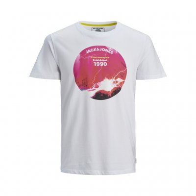 T-shirt JCOURBAN STRIKE Vit