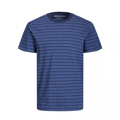 T-shirt JJESTRIPED Denim blue