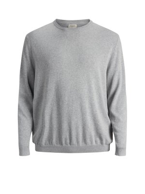 JJEBASIC Knit crew neck Ljusgrå
