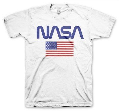 T-shirt NASA Old Glory Vit
