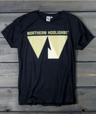 T-shirt Single Peak Northern Hooligans Svart